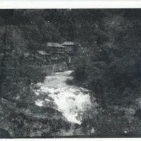 A valley stream below Mikiataka Hotel, Aizuwakamatsu,…