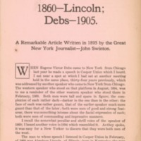 1860, Lincoln--Debs, 1905: a remarkable article written…