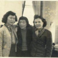 Kaizawa 2-014: Group photo of Midori Kawaguchi (right),…