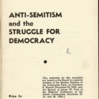Anti-Semitism and the struggle for democracy.