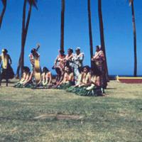 Poi pounding, Honolulu. 8 Apr. 1954