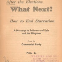 After the elections, what next?: how to end starvation:…