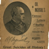 Is suicide a sin? Robert G. Ingersoll's famous letter.…
