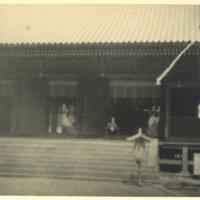 A shrine maiden in an old temple in Nikko, Tochigi…