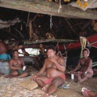 Satawalese in Hut