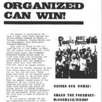 People organized can win!