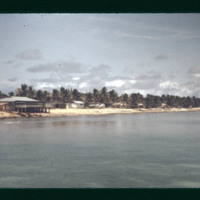 Close up of Ebeye Island as we pull along side the pier…