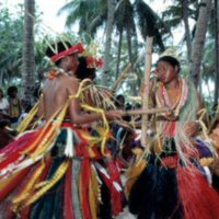 Dancing at Outer Islands High School (OIHS) graduation…