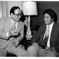 Senator Spark Matsunaga and Mufi Hannemann