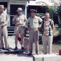 Outside CivAd Saipan. Johnson, Burge, McConnell, Carey,…