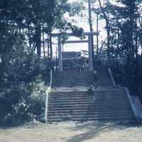 Entrance to shrine in Naha