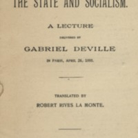 State and socialism: a lecture.