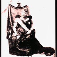 Liliuokalani seated on throne