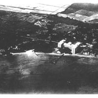 Moana hotel, Waikiki - aerial view circa 1920s