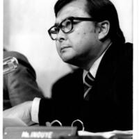 Senator Inouye at Watergate hearing