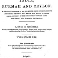 Butterflies of India, Burmah and Ceylon (Volume III)