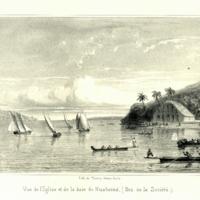 Vue de lEglise et de la baie de Huaheine. (Iles de la…
