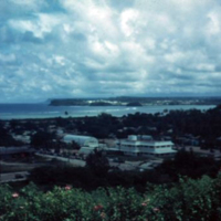 Agana from the Bishopric. Guam. 14 Nov. 1949