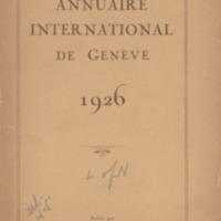 Annuaire international de Genève