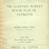 Guernsey market house plan of payments.