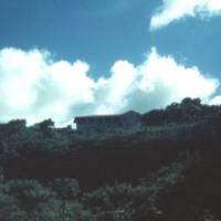 Looking up at the Bishopric. Agana, Guam. 23 Oct. 1949