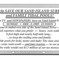 Help save our Sand Island surf and family tidal pools