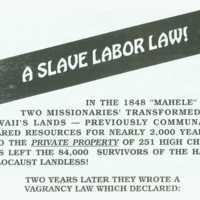 Slave labor law!