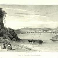 Village de Kororareka. (Nouvelle Zelande.)