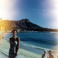 Toni Stewart, Diamond Head from Moana, Waikiki. Hawaii.…