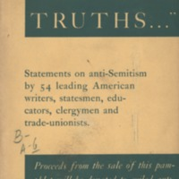 """We hold these truths ..."" Statements on anti-Semitism…"