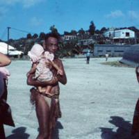 Yap man & Dick Umhoefer see us off. Mar. 1951