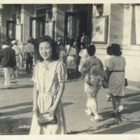Kaizawa 2-081: Japanese woman in civilian clothes…