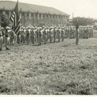 720th M.P.Battalion formation on the ground, Yokohama,…