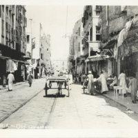 Postcard: Street scene of Alexandria, Egypt