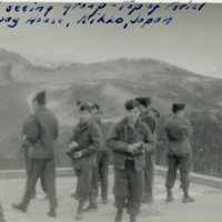A group of soldiers sightseeing on the top of Aeriel…