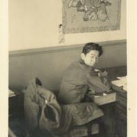 Kaizawa 3-024: Image of Stanley Kaizawa at his desk in…