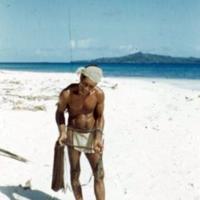 Trukese fisherman, Falo Island. Sept. 1950