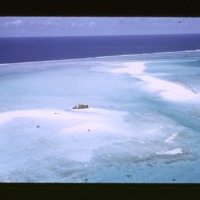 Concrete test building on sandbar, NW reef, just SW…