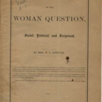 Problems on the Woman Question, Social, Political and…