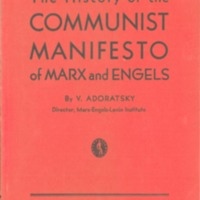 History of the Communist manifesto of Marx and Engels