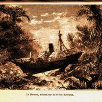 Le Barouw, echoue sur la riviere Kouripan