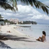 Royal Hawaiian Hotel and Waikiki beach