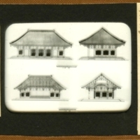 Elevations and Sections of Toshodai-ji Kondo