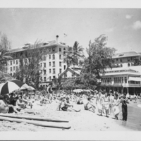 Waikiki Beach and Moana Hotel