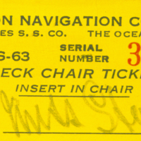 [013] Deck Chair Ticket