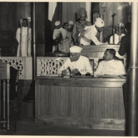 Nehru and Mountbatten declare Indian independence 1947