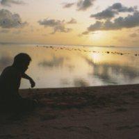 Mau Piailug on Beach - 01