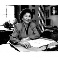 Representative Pat Saiki in her office in the Longworth…