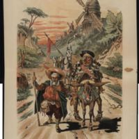Retreat of Don Grover Quixote / Gillam.