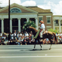 [Parade official on horseback]